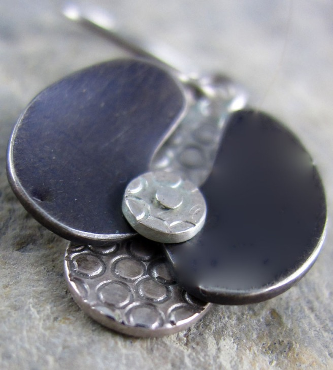 Artisan made orchid earrings by Naomi Landig