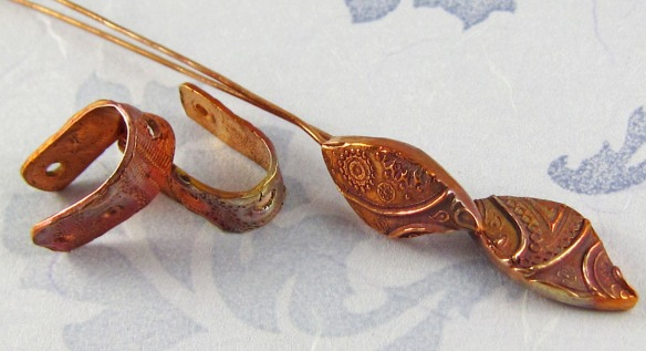 Handmade copper headpins and earring bails
