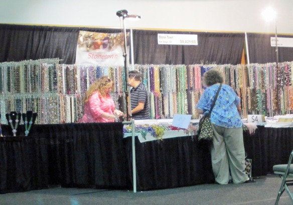 Bead booth with crystals