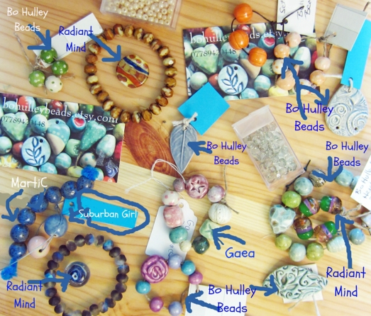 Artisan lampwork and ceramic beads