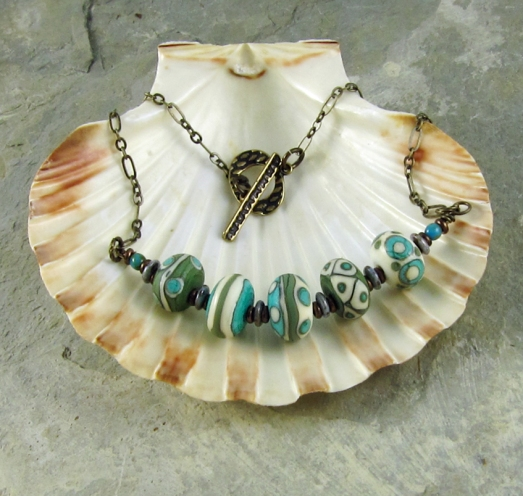 lampwork bead necklace