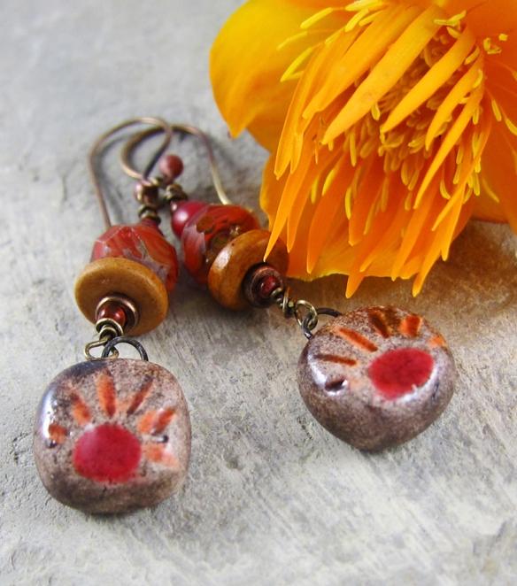 Ceramic Sunrise Earrings