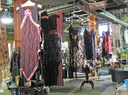 Handcrafted clothing in the gallery