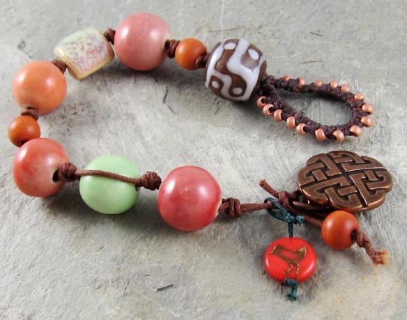 artisan ceramic bead bracelet