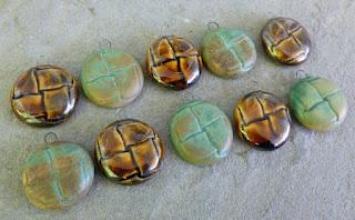 handmade ceramic button charm