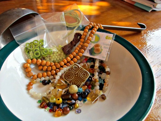 Bead Soup with additional items from my bead stash