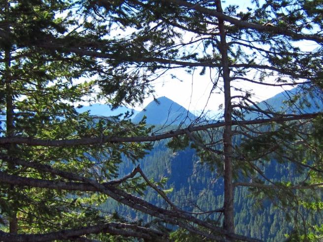 View oppostie of Mt. Rainier