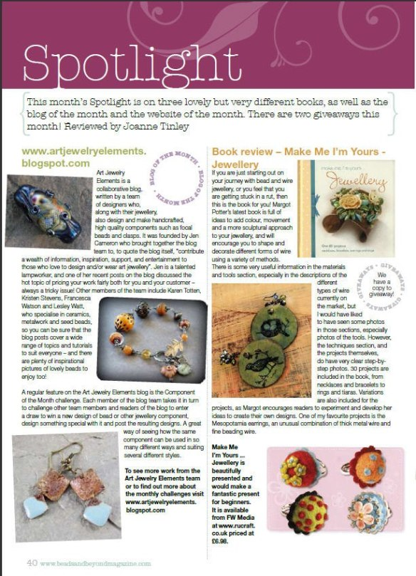 Review of Art Jewelry Elements blog