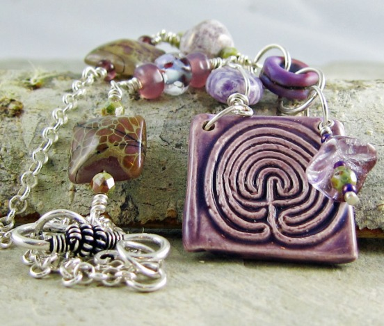 One of a kind necklace by Linda Landig Jewelry