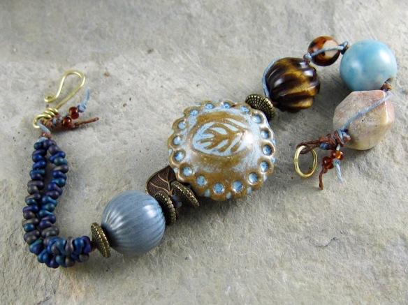 Blue handmade bracelet