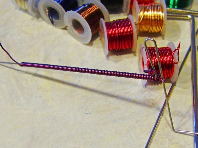 purple wire coil