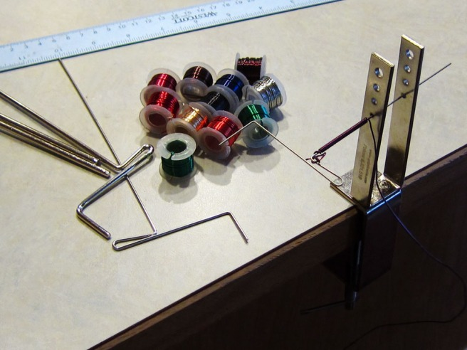colored wire and coiling tool