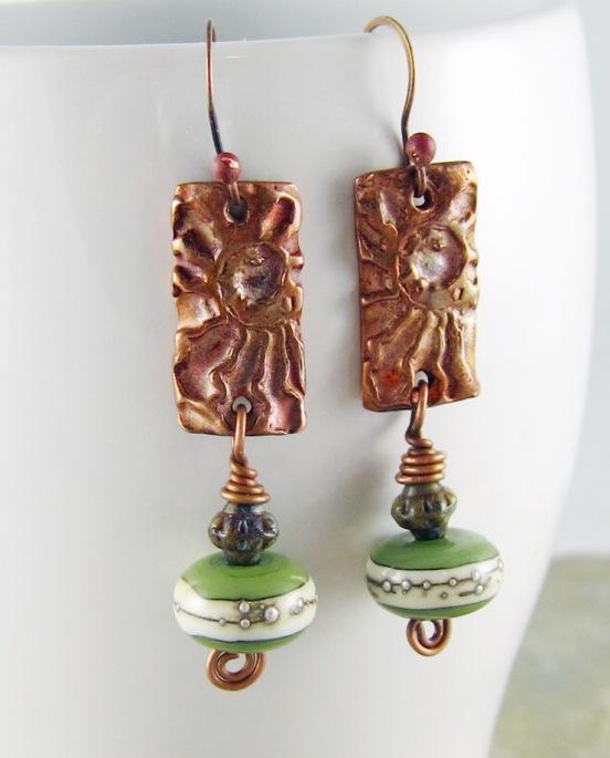 Ammonite Impression Earrings 1