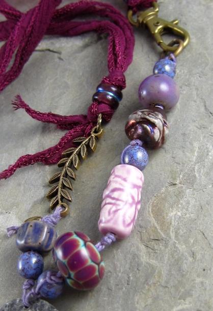 Brass Dogwood Necklace 6