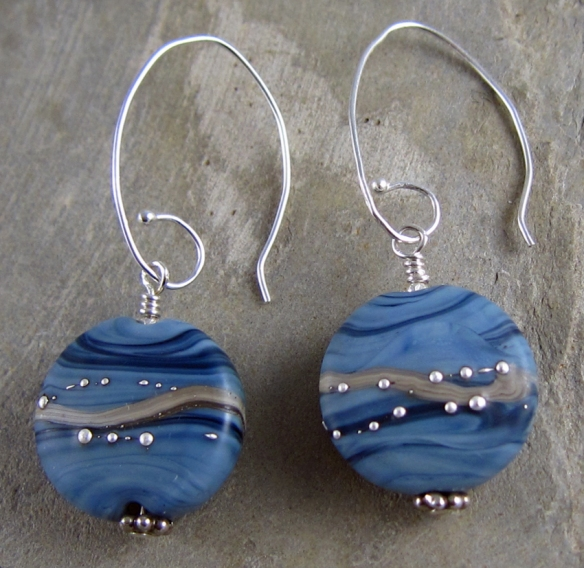 Denim Elegance earrings 2
