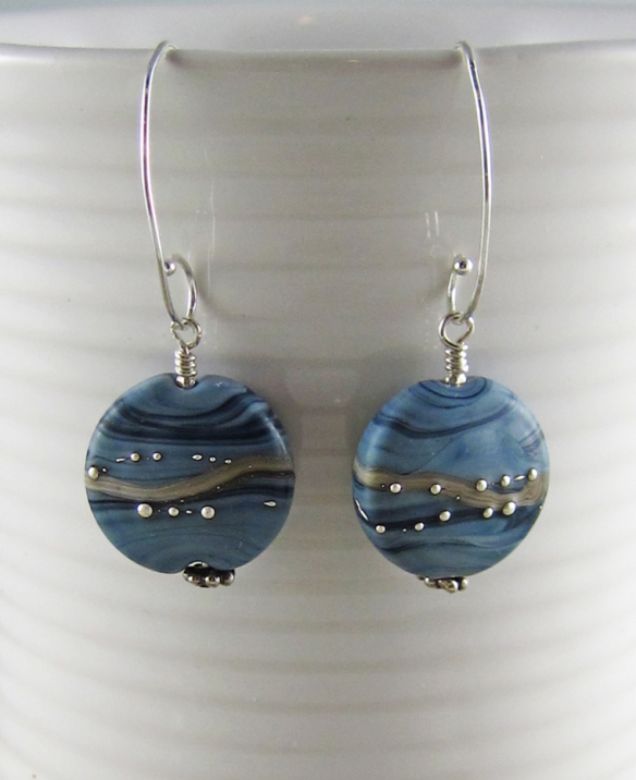 Denim Elegance earrings 3