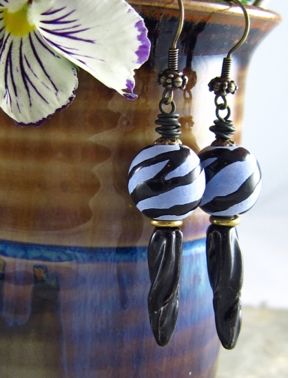 handmade ceramic earrings by Linda Landig Jewelry
