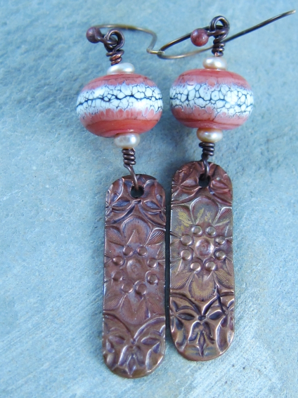 Coral Blossoms Earrings 4