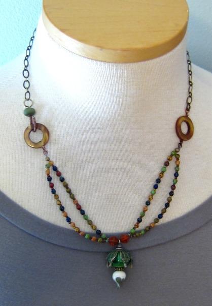 handmade necklace by linda landig jewelry