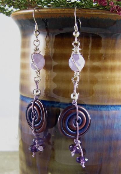 Handmade earrings by Lind Landig Jewelry