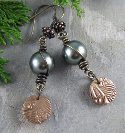 Handmade earrings by Linda Landig Jewelry