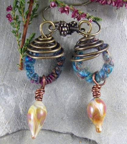 Spiral Fiber Earrings