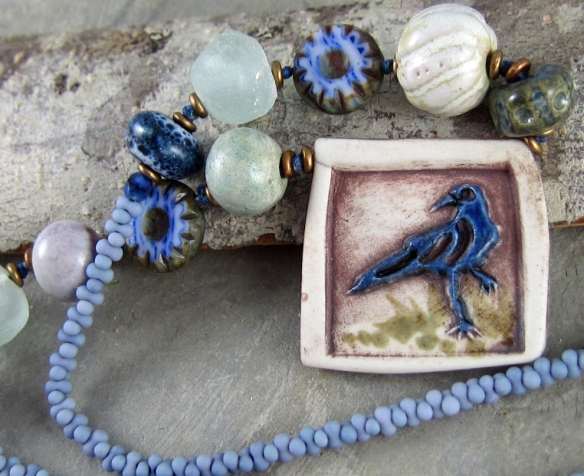 Handmade Raven Necklace by Linda Landig