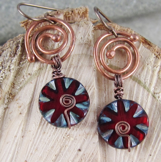 Artisan earrings by Linda Landig Jewelry