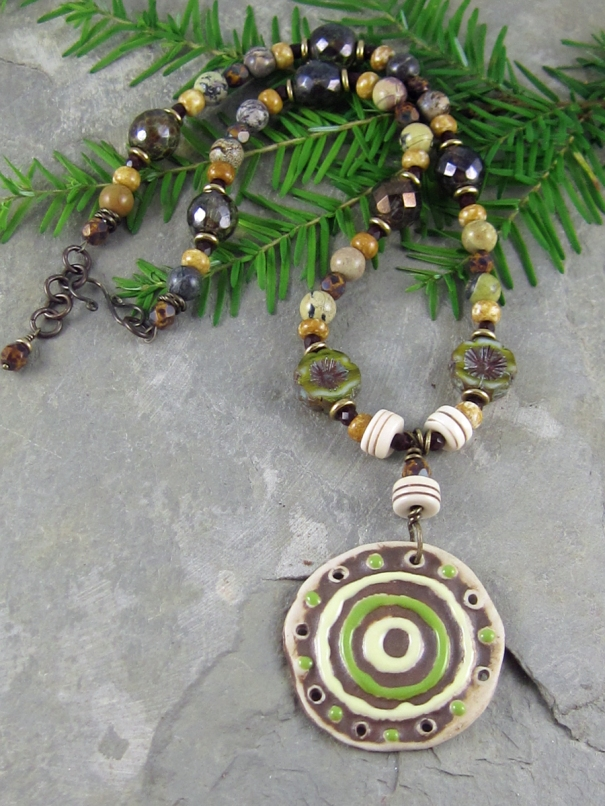 Green Medallion Necklace