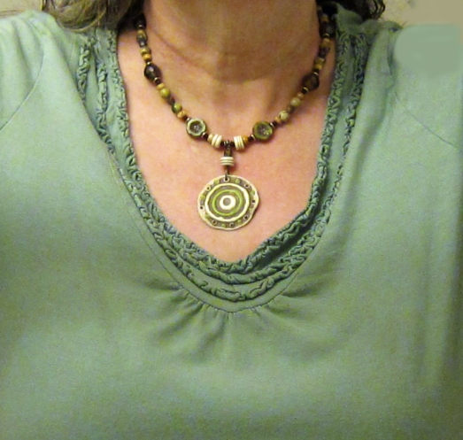 Green Medalian Necklace 3