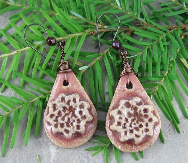 Rustic Flower Earrings