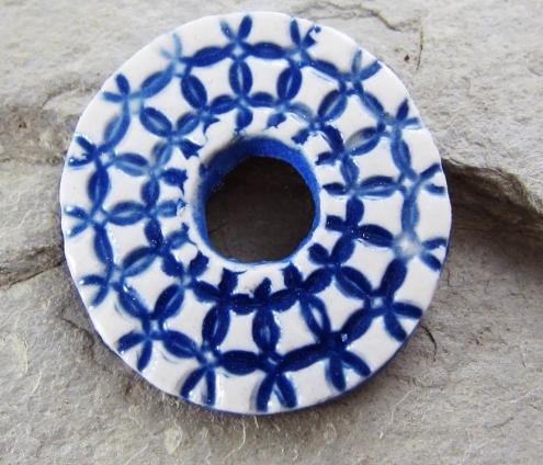 Cobalt Lace Donut 1
