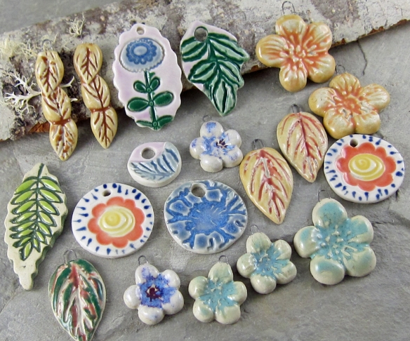 ceramic pendants by Linda Landig