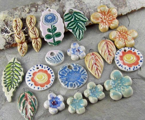 ceramic pendants by Linda Landig