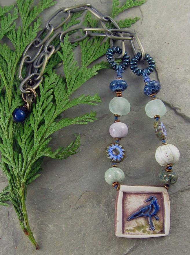 Blue Raven Necklace 1