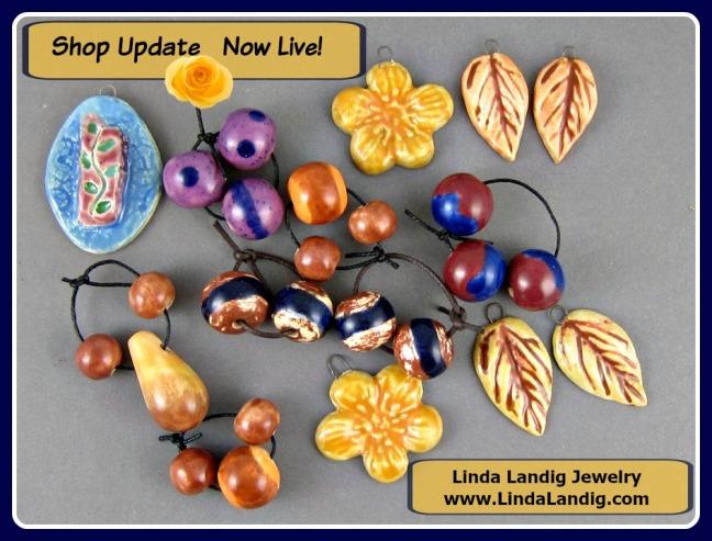 New ceramic jewelry components.