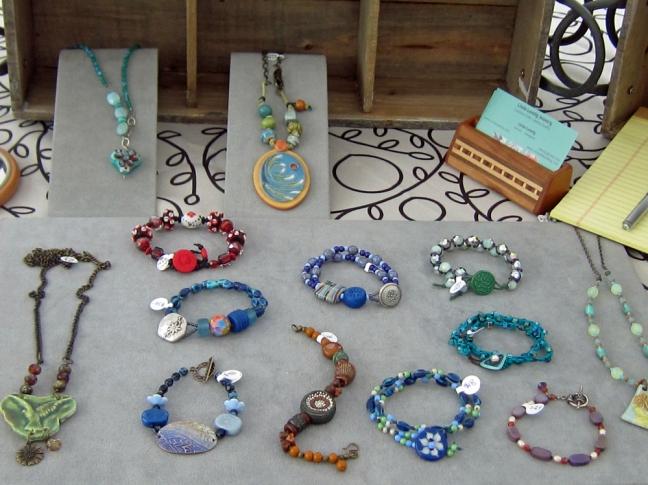 A selection of bracelets.