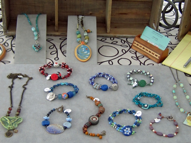 A selection of bracelets.