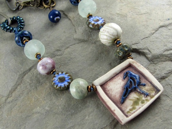 Blue Raven Necklace 3