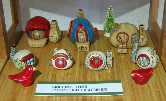 Whimsical little village figures.