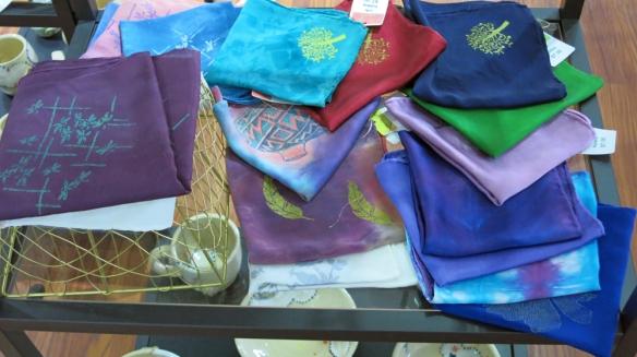 Hand dyed silks