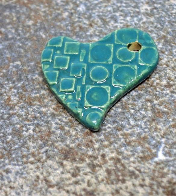 Green Teal Checkerboard Heart 5