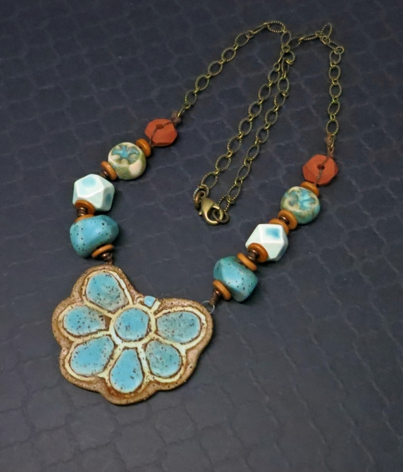 Rustic Blue Bloom Necklace 3