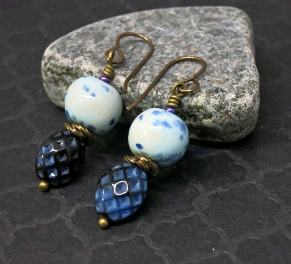 Speckled Blue Earrings 1