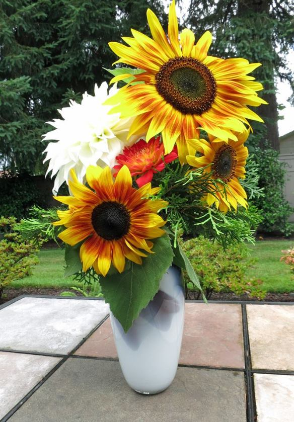 sunflower flower arrangement